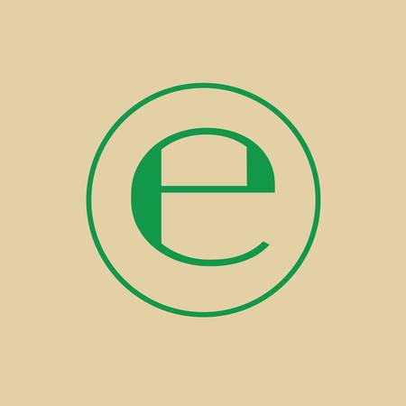 quantity: Estimated Sign E Mark Symbol Icon Vector Illustration