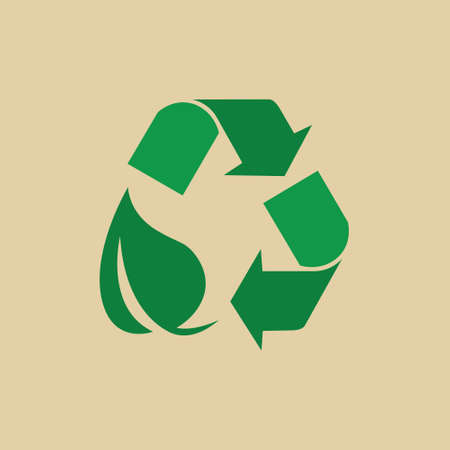 recycle reduce reuse: Recycle Symbol Green Arrows Logo Web Icon Vector Illustration