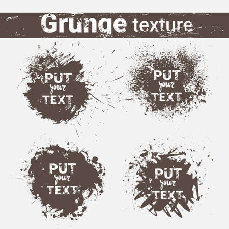 Grunge Texture Set Banner Collection With Copy Space Vector Illustration