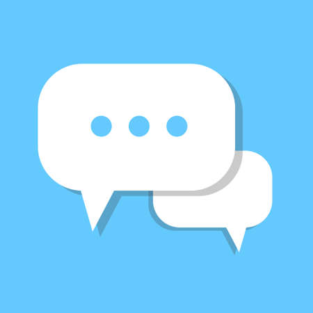 Chat Bubble Icon Social Media Communication Flat Vector Illustration