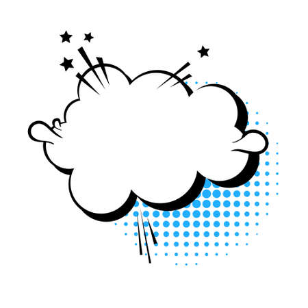 Chat Bubble Icon Pop Art Style Social Media Communication Flat Vector Illustration