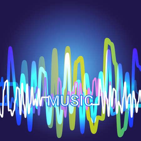 dancing club: Best Music Banner Colorful Modern Musical Poster With Line Equalizer Flat Vector Illustration Illustration