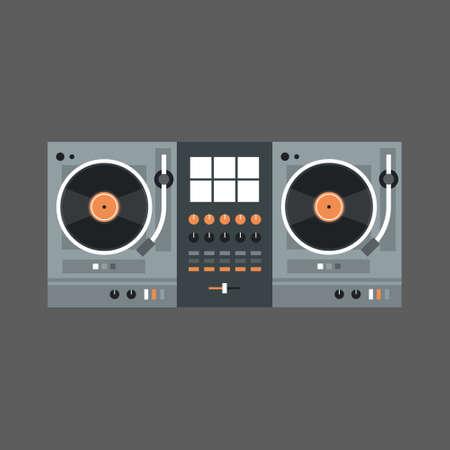 Van de het Pictogram Moderne Muziek van DJ Mixer van het Concept Vlakke Vectorillustratie