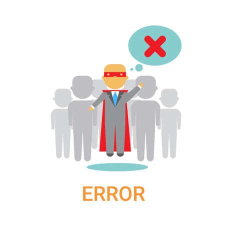 Error Icon 404 Not Found Broken Message Banner Flat  Illustration