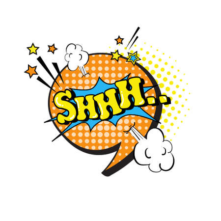 Comic Speech Chat Bubble Pop Art Style Sound Expression Text Icon Vector Illustration