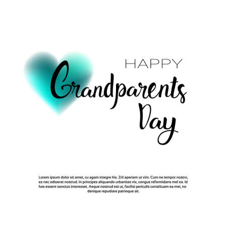 Happy Grandparents Day Greeting Card Banner With Copy Space Vector Illustration Illustration
