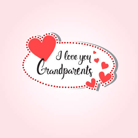 Happy grandparents day greeting card sticker colorful over pink happy grandparents day greeting card sticker colorful over pink background vector illustration stock vector 84059429 m4hsunfo