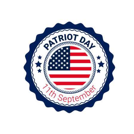 recordar: National USA Patriot Day United States Flag Banner Flat Vector Illustration