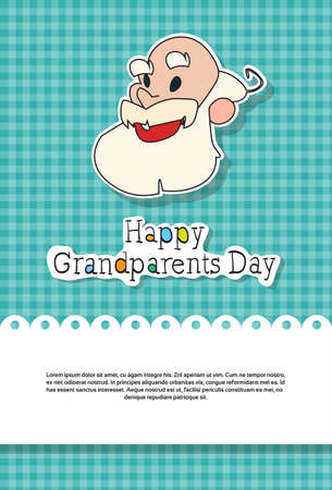 Happy Grandparents Day Greeting Card Banner Vector Illustration Illustration