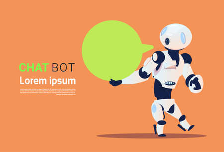 Chat Bot, Robots Virtual Assistance Element Of Website Or Mobile Applications, Artificial Intelligence Concept Flat Vector Illustration Illustration