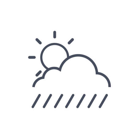 cloud: Clouds With Rain And Sun Weather Icon