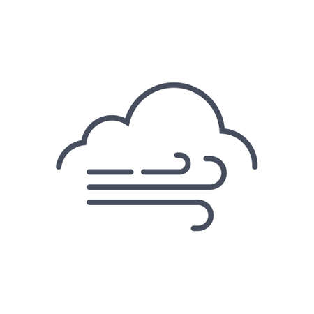 cloud: Huge Wind Weather Icon