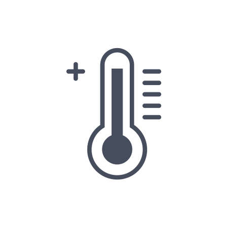 Hot Temperature Weather Icon Ilustrace