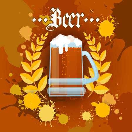Oktoberfest Traditional Beer Festival Banner Holiday Poster Flat Vector Illustration.