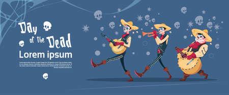 Día De Muerto Tradicional Mexicana De Halloween. Ilustración de vector