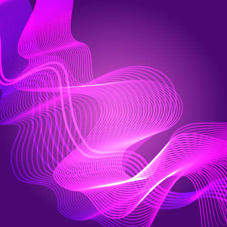 Abstract Colorful Waves Waved Lines Background Vector Illustration