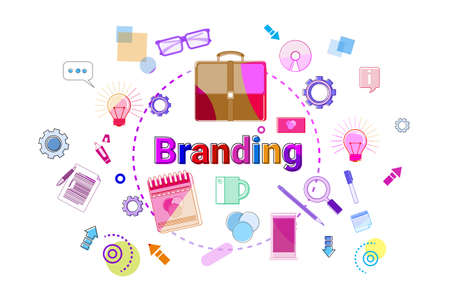 Branding Creation And Products Line Development Concept Business Strategy Banner Vector Illustration Illustration