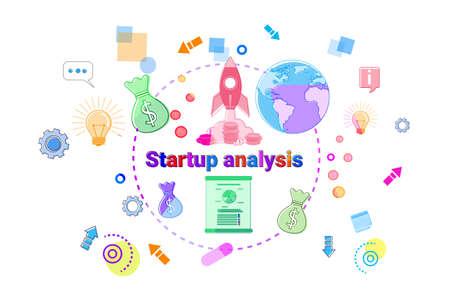 Startup Analysis Concept Business Idea Development Banner Vector Illustration