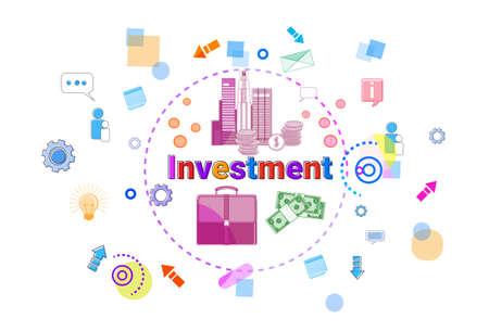 Investment Concept Business Idea Promotion Sponsor Banner Illustration Illustration