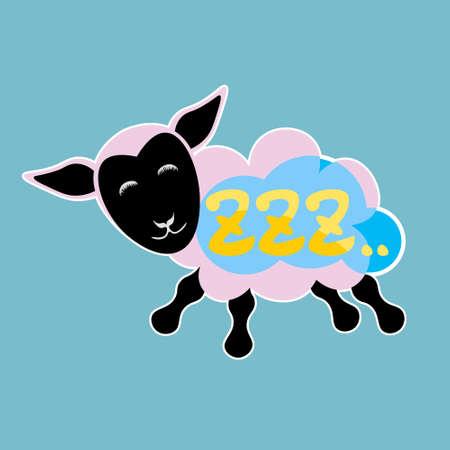 Zzz Sticker Social Media Network Message Badges Design Vector Illustration Illustration