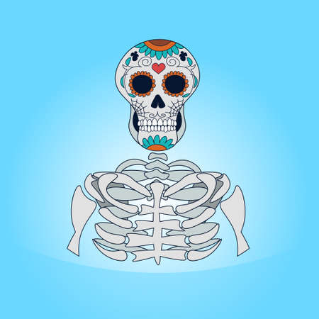 Skull for Day Of Dead concept icon.