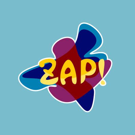 Zap Sticker Vector Illustration Illustration