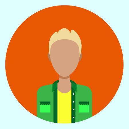 Male Avatar Profile Vector Illustration