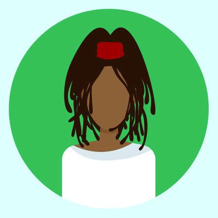 Vrouwelijk Avatar Profiel Vectorillustratie Stock Illustratie