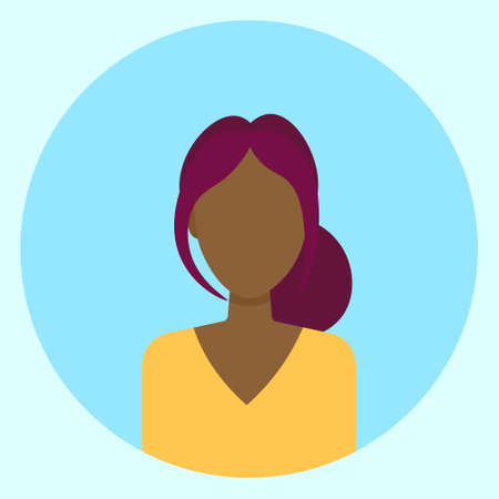 Female Avatar Profile Vector Illustration Ilustração Vetorial