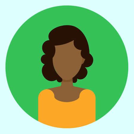 Illustration vectorielle de femme Avatar profil Banque d'images - 88668392