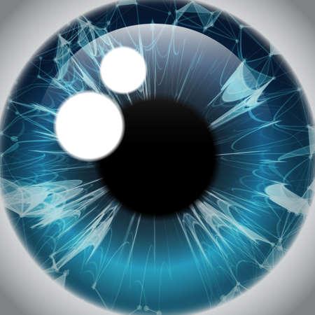 Human Eye Iris, Realistic Eyeball Icon Vector Illustration Illustration
