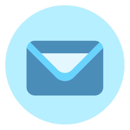 Envelope Icon Mail Post Letter Button On Blue Background Vector Illustration Stock fotó - 89044083
