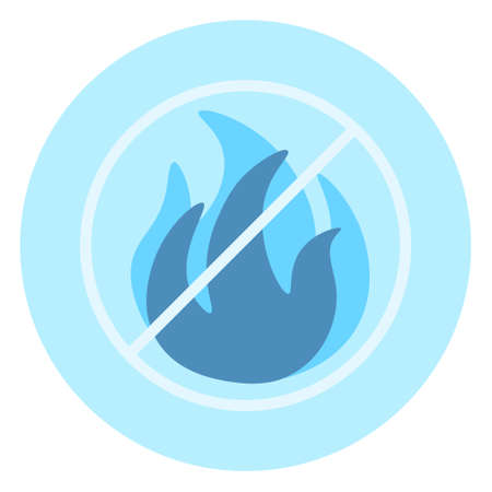 No open fire allowed icon over blue background, vector illustration. Illustration