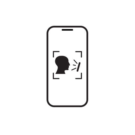 Biometric Identification Smart Phone Scanning Person, Face Recognition System Concept Vector Illustration