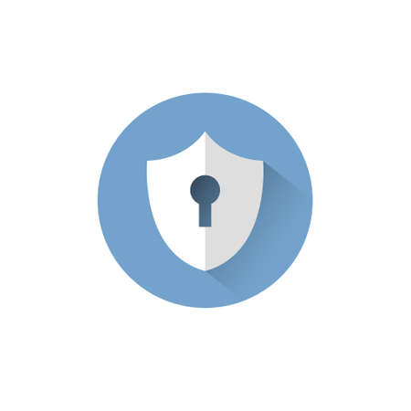 Shield With Keyhole Icon Protection And Security Concept Vector Illustration Illustration