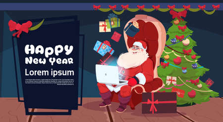 Black Friday Christmas And Happy New Year Promotion Banner Vectores