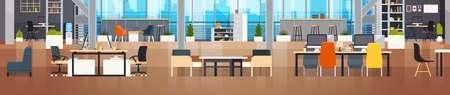 Modern Coworker Center Vector Illustration