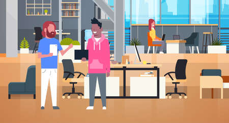 Businesspeople Working Together In Coworking Office Casual  イラスト・ベクター素材