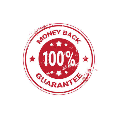 Money Back Guarantee Grunge Red Sticker Or Stamp Template Isolated Vector Illustration Vettoriali