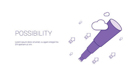 Possibility Web Banner With Copy Space Business Motivation Concept Vector Illustration