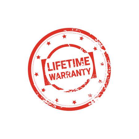 Lifetime Warranty Stamp Grunge Sign Or Badge Icon Isolated Vector Illustration Illustration