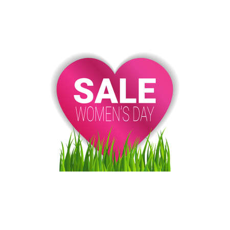 Sale Womens Day Bagde Discount Sticker Template Special Offer Sign Isolated Vector Illustration