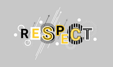 Respect And Appreciation Web Banner Abstract Template Background Vector Illustration Vettoriali