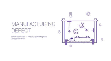 Manufacturing Defect Template Web Banner With Copy Space Vector Illustration 矢量图像