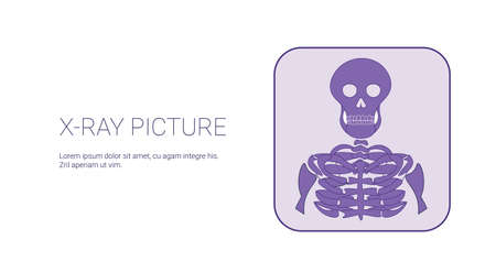 X-Ray Picture Image Template Web Banner With Copy Space Illustration Foto de archivo - 96674742