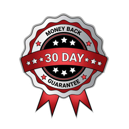 Money Back In 30 Days Guarantee Medal Isolated Template Seal Icon Vector Illustration
