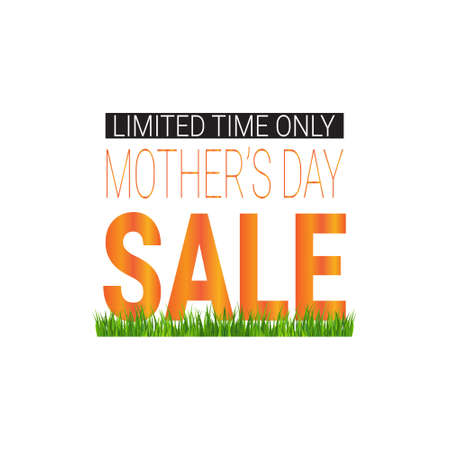 Mothers Day Sale Poster Limited Time Only Shopping Discount Tag Flat Vector Illustration 向量圖像
