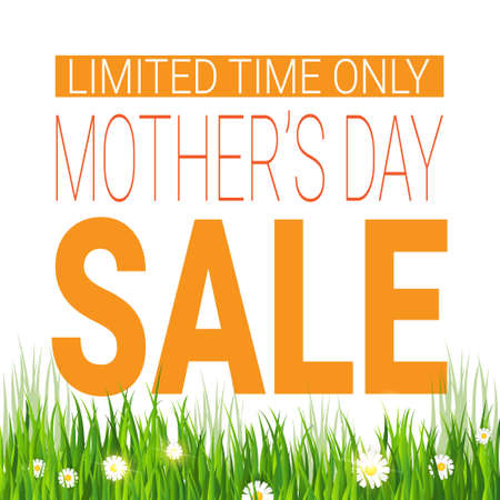 Mothers Day Sale Poster Limited Time Only Shopping Discount Tag Flat Vector Illustration Illustration