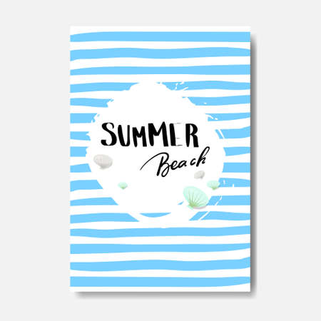 summer beach badge Isolated Typographic Design Label