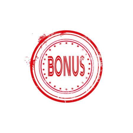 bonus watermark stamp circular icon isolated sticker badge logo design elements vector illustration